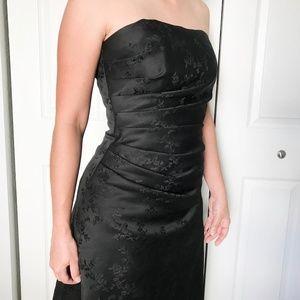 Urban Girl Nites Black Floor Length Dress 7/8